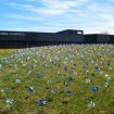 The pinwheel garden at Mohawk's corporate headquarters