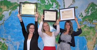 In photo, from left to right: Kari Aiduk, Kelsey Polanski, and Alex Blasi.