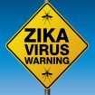 Caution sign stating zika virus warning