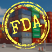 FDA stamp over container yard