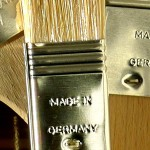 Clean paint brushes labeled as made in Germany.