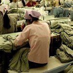 Workers at garment factory in Southeast Asia