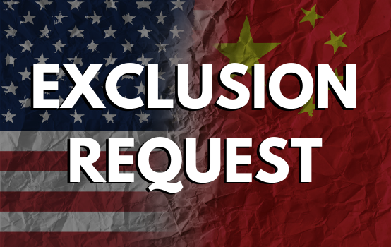 Request Section 301 List 4A Exclusions Starting 10/31