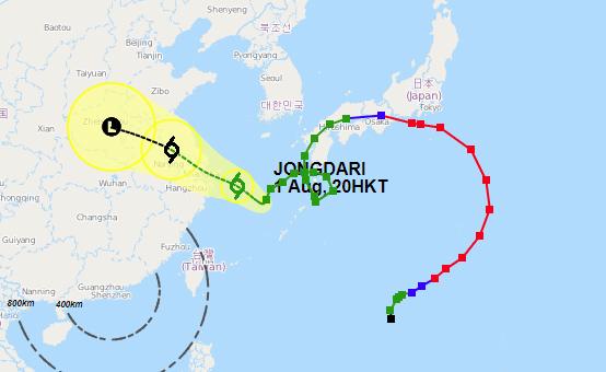Typhoon Jongdari May Cause Delays at Shanghai Port