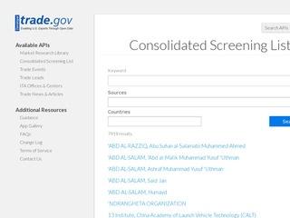 Web Tool Simplifies Export Screening