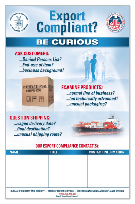 Personalize This Export Compliance Poster