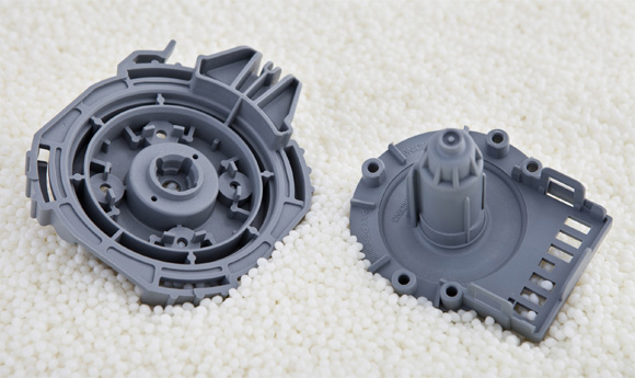 Plastic parts or components made from molds